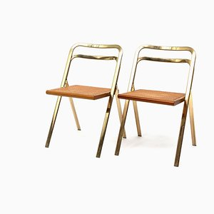 Italian Folding Chairs by Giorgio Cattelan for Cidue, 1970s, Set of 2