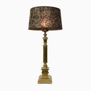 Große Regency Empire Stil Messing Tischlampe, 1960er