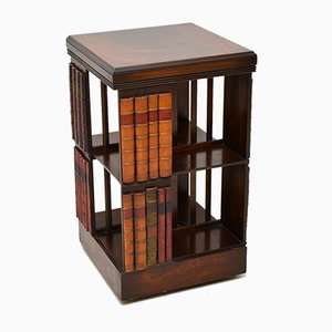 George III Style Mahogany Revolving Bookcase Stand, 1950s