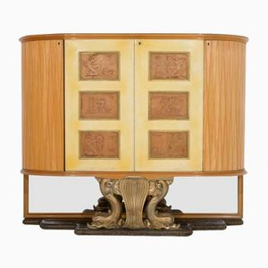 Walnut Bar Cabinet by Osvaldo Borsani for Atelier Borsani Varedo, 1930s
