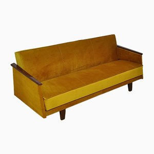 Mid-Century Velvet Sofa Daybed, 1960s