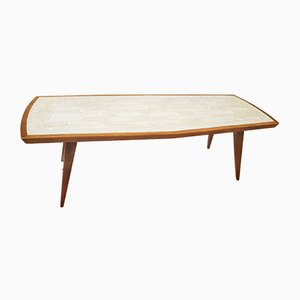 Mosaic and Walnut Coffee Table by Berthold Müller, 1950s