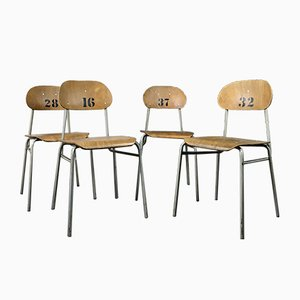 Vintage Stacking School Chairs, 1970s, Set of 10
