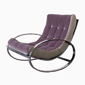 Ellipse Rocking Chair by Renato Zevi for Zelig, 1970s