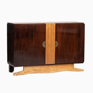 Vintage French Art Deco Rosewood and Sycamore Sideboard