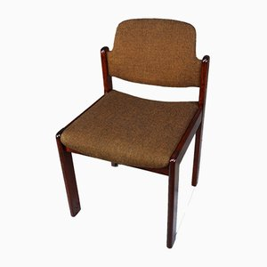Wood and Fabric Dining Chairs from Lübke, 1960s, Set of 6