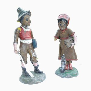 Vintage Garden Sculptures, Set of 2