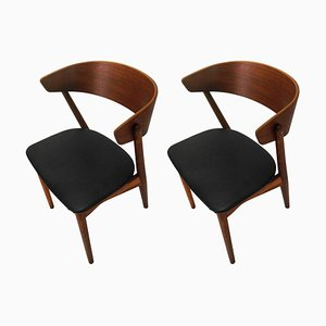 Teak and Oak Dining Chairs by Helge Sibast for Sibast, 1960s, Set of 2