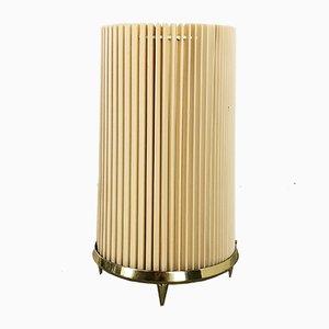 Große Italienische Vintage Tischlampe mit Messinggestell im Stil von Stilnovo, 1970er