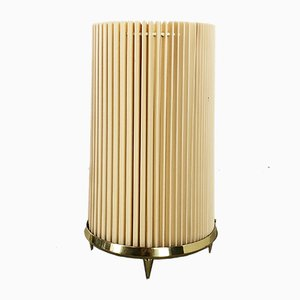 Large Vintage Italian Brass Base Table Lamp in the Style of Stilnovo, 1970s