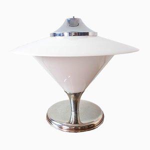 Lámpara de mesa grande de cristal de Murano de Mazzega, años 60