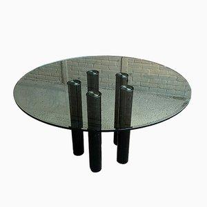 Mesa de comedor de vidrio de Marco Zanuso para Zanotta, 1979