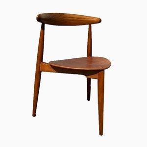 Stuhl aus Eiche & Teak von Hans Jorgen Wegner für Fritz Hansen, 1950er