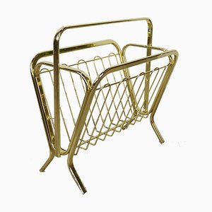 Brass Magazine Rack, 1970s