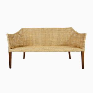 Rattan and Wood Sofa, 1990s