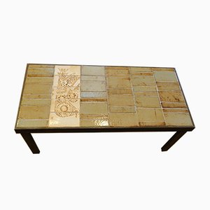 French Ceramic Coffee Table by Roger Capron, 1960s