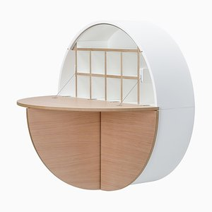 Light Cherry Veneer Multifunctional Pill Cabinet by Dalius Razauskas for Emko