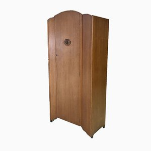 English Light Oak Wardrobe, 1950s
