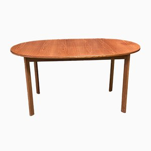 Teak Dining Table with Butterfly Extension Leaf, 1970s