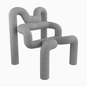 Light Grey Armchairs by Terje Ekstrom, Norway, 1980s, Set of 2