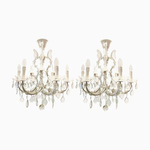Italian Maria Theresa 6-Light Chandeliers, 1960s, Set of 2