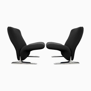 Dutch Kvadrat Upholstery Lounge Chairs by Pierre Paulin, 1970s, Set of 2