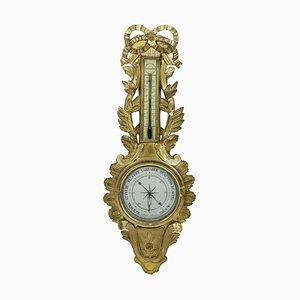 18th Century Louis XVI Barometer in Gilt Wood