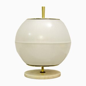 Glass Globe Table Lamp Attributed to Venini, Italy, 1960s, Set of 2