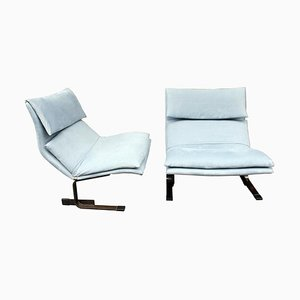 Onda Wave Lounge Chairs by Giovanni Offredi for Saporiti, 1970s, Set of 2