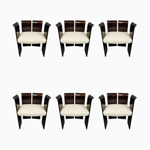 Mid-Century Italian Chairs, 1950s, Set of 6