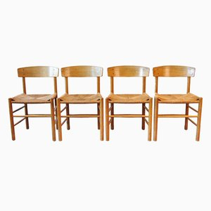 J39 Dining Chairs by Borge Mogensen for FDB Mobler, 1950s, Set of 4