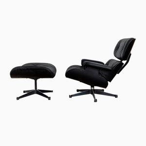 Mid-Century Lounge Chair & Ottoman by Charles & Ray Eames for Vitra, Set of 2