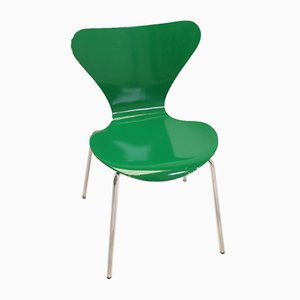 Green Model 3107 Dining Chair by Arne Jacobsen for Fritz Hansen, 1979