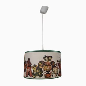 Vintage German Multicolored Fabric Ceiling Lamp from Steiff, 1970s