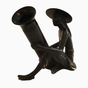 Chinese Brass Figure by Richard Rohac for Wiener Werkstätte, 1950s