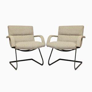 Vintage Bauhaus Stühle aus Stahl & Stoff, 1960er, 2er Set