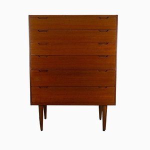 Mid-Century Danish Teak Chest of Drawers by Svend Langkilde for Langkilde