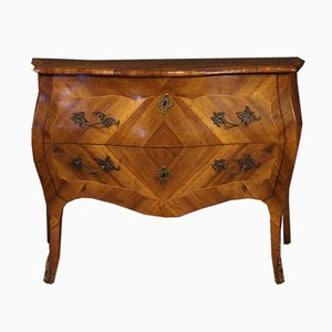 Italian Louis XV Style Inlaid Chest of Drawers, 1960s
