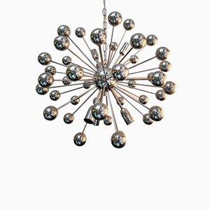 Italienische Vintage Sputnik Deckenlampe aus verchromtem Stahl von Valenti Luce, 1970er