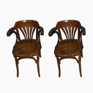 Mid-Century Bentwood Dining Chairs, 1960s, Set of 2