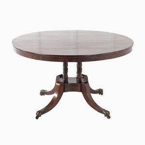 Antique Regency Rosewood and Brass Center Table