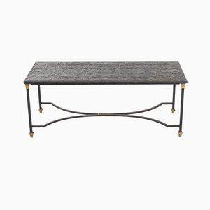 Slate and Iron Coffee Table, 1950s
