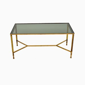 Mid-Century French Brass and Glass Coffee Table, 1950s
