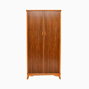 Vintage Walnut Wardrobe, 1950s