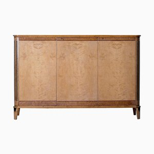 Art Deco Satin Birch Sideboard, 1940s