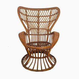 Wicker Lounge Chairs from Lio Carminati for Casa e Giardino, 1960s, Set of 2