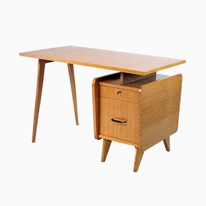 French Oak Desk from SAM, 1950s