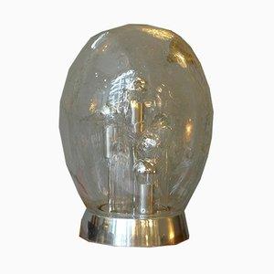 Space Age Glas Sputnik Tischlampe von Doria Leuchten