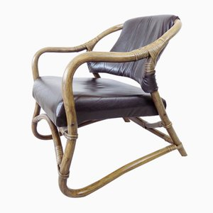 Dänische Mid-Century Bambus Sessel, 1960er, 2er Set