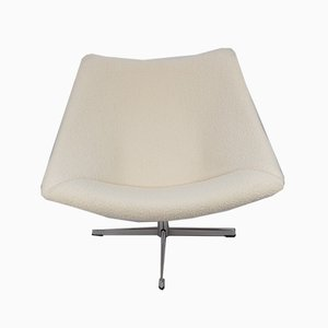 Oyster Chair with Cross Base by Pierre Paulin for Artifort, 1965